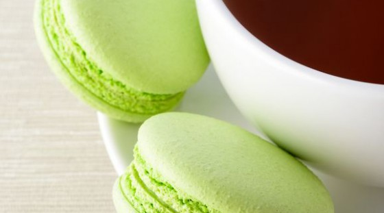 Thee met macaron close up