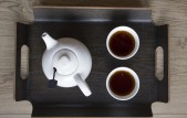 Dienblad met tea for two